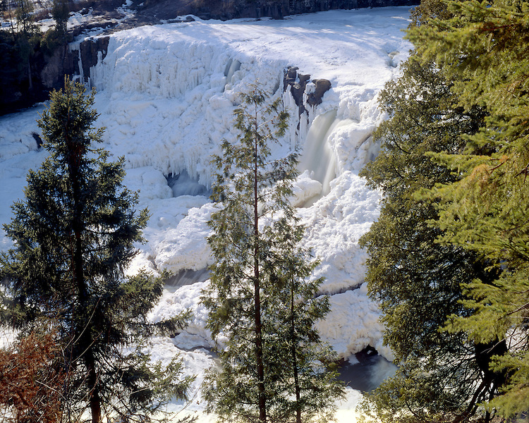 Lower Gooseberry Falls, Lake County, Minnesota, March, 1987