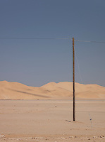 A telegraph pole in the Namib Desert, Namibia