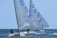 Finn / Jock Calvert (AUS)<br /> ISAF Sailing World Cup Final - Melbourne<br /> St Kilda sailing precinct, Victoria<br /> Port Phillip Bay Tuesday 6 Dec 2016<br /> &copy; Sport the library / Jeff Crow