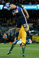 October 11, 2016: MAYA YOSHIDA (22) of Japan heads the ball during a 3rd round Group B World Cup 2018 qualification match between Australia and Japan at the Docklands Stadium in Melbourne, Australia. Photo Sydney Low Please visit zumapress.com for editorial licensing. *This image is NOT FOR SALE via this web site.