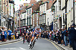 Elizabeth Deignan of Great Britain leads the chase during the Women Elite Road Race of the UCI World Championships 2019 running 149.4km from Bradford to Harrogate, England. 28th September 2019.<br /> Picture: Pauline Ballet/SWpix.com | Cyclefile<br /> <br /> All photos usage must carry mandatory copyright credit (© Cyclefile | Pauline Ballet/SWpix.com)