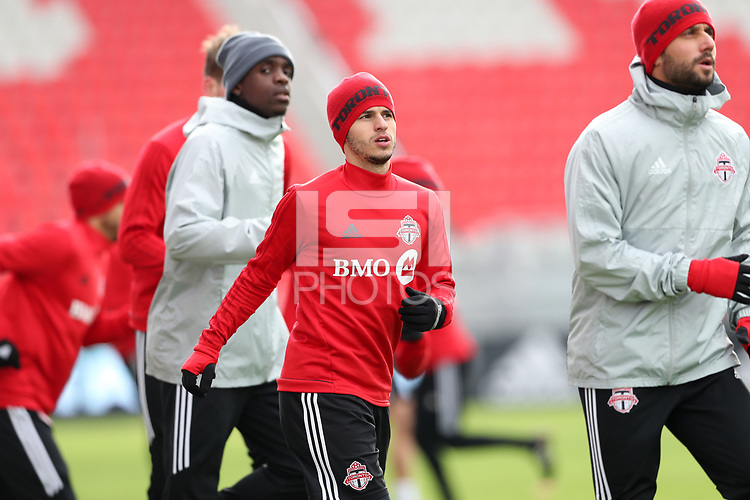 Toronto, Ontario - Friday December 08, 2017: Toronto FC held a training session and media mixed zone at BMO Field the day before playing in MLS Cup 2017.