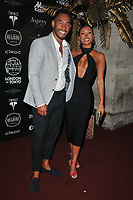 Josh Denzel and Kaz Crossley of Love Island at the 2018 Gumball 3000 Rally launch party, Proud Embankment, Victoria Embankment, London, England, UK, on Saturday 04 August 2018.<br /> CAP/CAN<br /> &copy;CAN/Capital Pictures