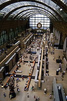 The Musée d'Orsay in Paris, France, on the left bank of the Seine. The museum exchibits mainly French art dating from 1848 to 1915.