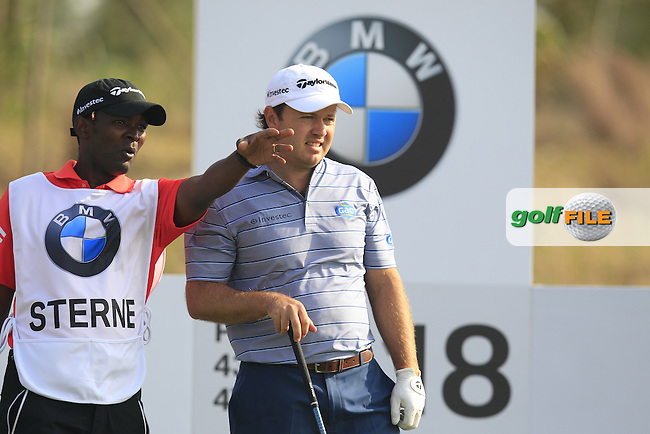 Richard Sterne (RSA) prepares to tee off the 18th tee during Sunday's Final Round of the 2014 BMW Masters held at Lake Malaren, Shanghai, China. 2nd November 2014.<br /> Picture: Eoin Clarke www.golffile.ie