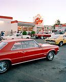 USA, Arizona, Holbrook, car show at the galaxy diner
