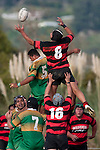 Nui Wellington juggles the ball at lineout time. Counties Manukau Premier Club Rugby Game of the Week between Drury & Papakura, played at Drury Domain on Saturday Aprill 11th, 2009..Drury won 35 - 3 after leading 15 - 5 at halftime.