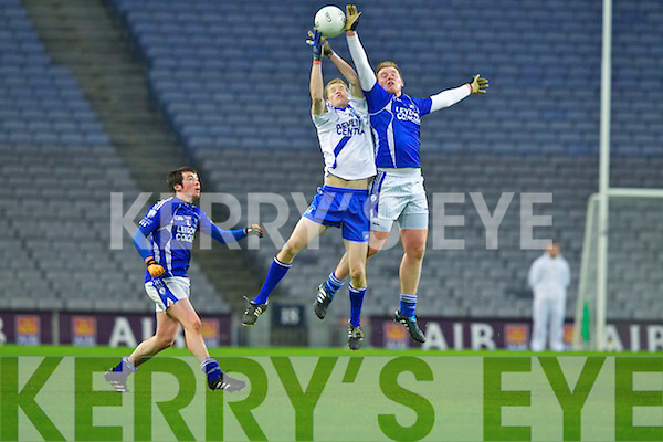 Aidan Walsh Saint Mary's, Cahersiveen, v Michael Curran Saint Mary's, Swanlinbar in the All Ireland Junior Club Championship at Croke park on Saturday evening.