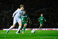 Leeds United's Patrick Bamford vies for possession with Sheffield Wednesday's Morgan Fox<br /> <br /> Photographer Chris Vaughan/CameraSport<br /> <br /> The EFL Sky Bet Championship - Leeds United v Sheffield Wednesday - Saturday 11th January 2020 - Elland Road - Leeds<br /> <br /> World Copyright © 2020 CameraSport. All rights reserved. 43 Linden Ave. Countesthorpe. Leicester. England. LE8 5PG - Tel: +44 (0) 116 277 4147 - admin@camerasport.com - www.camerasport.com