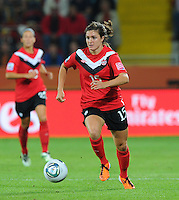 Christina Julien of team Canada during the FIFA Women's World Cup at the FIFA Stadium in Dresden, Germany on July 5th, 2011.