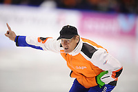 SCHAATSEN: HEERENVEEN: IJsstadion Thialf, 11-01-2013, Seizoen 2012-2013, Essent ISU EK allround, Jillert Anema (trainer/coach BAM), ©foto Martin de Jong