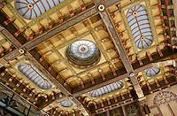 Nederland Groningen 2016. Wachtruimte bij het Station. Plafond. Foto Berlinda van Dam / Hollandse Hoogte
