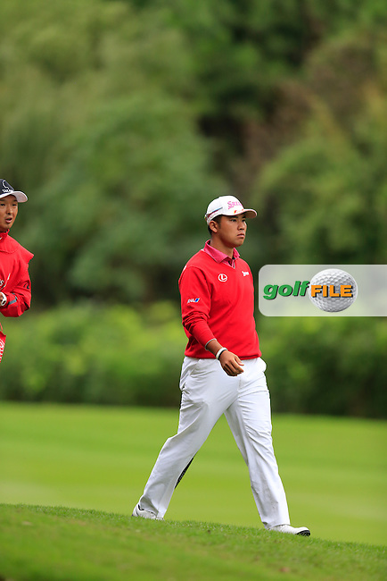 Hideki Matsuyama (JPN) on the 8th during round 3 of the WGC-HSBC Champions, Sheshan International GC, Shanghai, China PR.  29/10/2016<br /> Picture: Golffile | Fran Caffrey<br /> <br /> <br /> All photo usage must carry mandatory copyright credit (&copy; Golffile | Fran Caffrey)
