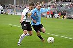Sandhausen 05.12.2009, 3. Liga SV Sandhausen - FC Ingolstadt 04, Sandhausens Denis Bindnagel gegen Ingolstadts Tobias Fink<br /> <br /> Foto &copy; Rhein-Neckar-Picture *** Foto ist honorarpflichtig! *** Auf Anfrage in h&ouml;herer Qualit&auml;t/Aufl&ouml;sung. Ver&ouml;ffentlichung ausschliesslich f&uuml;r journalistisch-publizistische Zwecke. Belegexemplar erbeten.