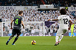 Real Madrid's Marcelo Vieira and Real Sociedad's Asier Illarramendi during La Liga match between Real Madrid and Real Sociedad at Santiago Bernabeu Stadium in Madrid, Spain. January 06, 2019. (ALTERPHOTOS/A. Perez Meca)<br />  (ALTERPHOTOS/A. Perez Meca)