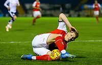 Fleetwood Town's Gerard Garner loses his footing<br /> <br /> Photographer Alex Dodd/CameraSport<br /> <br /> The EFL Checkatrade Trophy Group B - Bury v Fleetwood Town - Tuesday 13th November 2018 - Gigg Lane - Bury<br />  <br /> World Copyright &copy; 2018 CameraSport. All rights reserved. 43 Linden Ave. Countesthorpe. Leicester. England. LE8 5PG - Tel: +44 (0) 116 277 4147 - admin@camerasport.com - www.camerasport.com