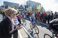 Julien Vermote (BEL/QuickStep Floors) riding into Sint-Niklaas in the peloton<br /> <br /> 101st Ronde van Vlaanderen  2017 (1.UWT)<br /> 1day race: Antwerp-Oudenaarde (260km)