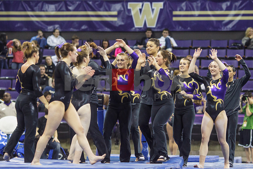Jackie McCartin-University of Washington Huskies gymnastics team takes on San Jose State University and Central Michigan at Alaska Airlines Arena in Seattle Mar. 9, 2012. (Photos by Andy Rogers/Red Box Pictures)