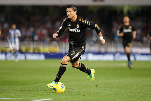 29.10.2011. San Sebastian,Spain. Real MAdrids Cristiano Ronaldo in action during the Spanish league football match between Real Sociedad and Real Madrid played at the Anoeta Stadium . Mandatory Credit: Actionplus