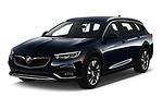 2019 Buick Regal TourX Essence 5 Door Wagon angular front stock photos of front three quarter view