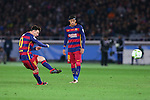 (L-R) Lionel Messi, Neymar (Barcelona), <br /> DECEMBER 20, 2015 - Football / Soccer : <br /> FIFA Club World Cup Japan 2015 <br /> Final match between River Plate 0-3 Barcelona  <br /> at Yokohama International Stadium in Kanagawa, Japan.<br /> (Photo by Yohei Osada/AFLO SPORT)