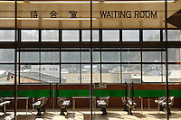 An empty waiting room, Joetsu Shinkansen, Niigata Prefecture, Japan, April 3 2009.