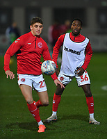 Fleetwood Town's Jay Matete warms up<br /> <br /> Photographer Dave Howarth/CameraSport<br /> <br /> Leasing.com Trophy Northern Section Round Three - Fleetwood Town v Accrington Stanley - Tuesday 7th January 2020 - Highbury Stadium - Fleetwood<br />  <br /> World Copyright © 2018 CameraSport. All rights reserved. 43 Linden Ave. Countesthorpe. Leicester. England. LE8 5PG - Tel: +44 (0) 116 277 4147 - admin@camerasport.com - www.camerasport.com