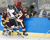 Jack Connolly (Duluth - 12), Kelly Zajac (Union - 19), Justin Fontaine (Duluth - 37) - The University of Minnesota-Duluth Bulldogs defeated the Union College Dutchmen 2-0 in their NCAA East Regional Semi-Final on Friday, March 25, 2011, at Webster Bank Arena at Harbor Yard in Bridgeport, Connecticut.