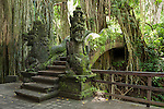 Monkey Forest, Ubud, Bali, Indonesia; the dragon bridge in the sanctuary