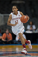 LOS ANGELES, CA - March 11, 2011:  Stanford's Melanie Murphy during the semi-final game of the 2011 Pac-10 Tournament game against the Arizona Wildcats at Staples Center.  Stanford won, 100-71.