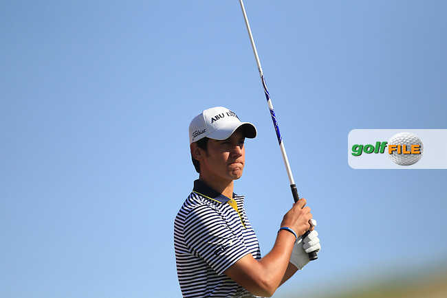 Matteo Manassero (ITA) on the 3rd tee during the second round at the Abu Dhabi HSBC Golf Championship in the Abu Dhabi golf club, Abu Dhabi, UAE..Picture: Fran Caffrey/www.golffile.ie.