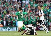June 11th 2017, Dublin, Republic Ireland; 2018 World Cup qualifier, Republic of Ireland versus Austria;  Martin Hinteregger of Austria tackles the ball away from Jeff Hendrick of Ireland