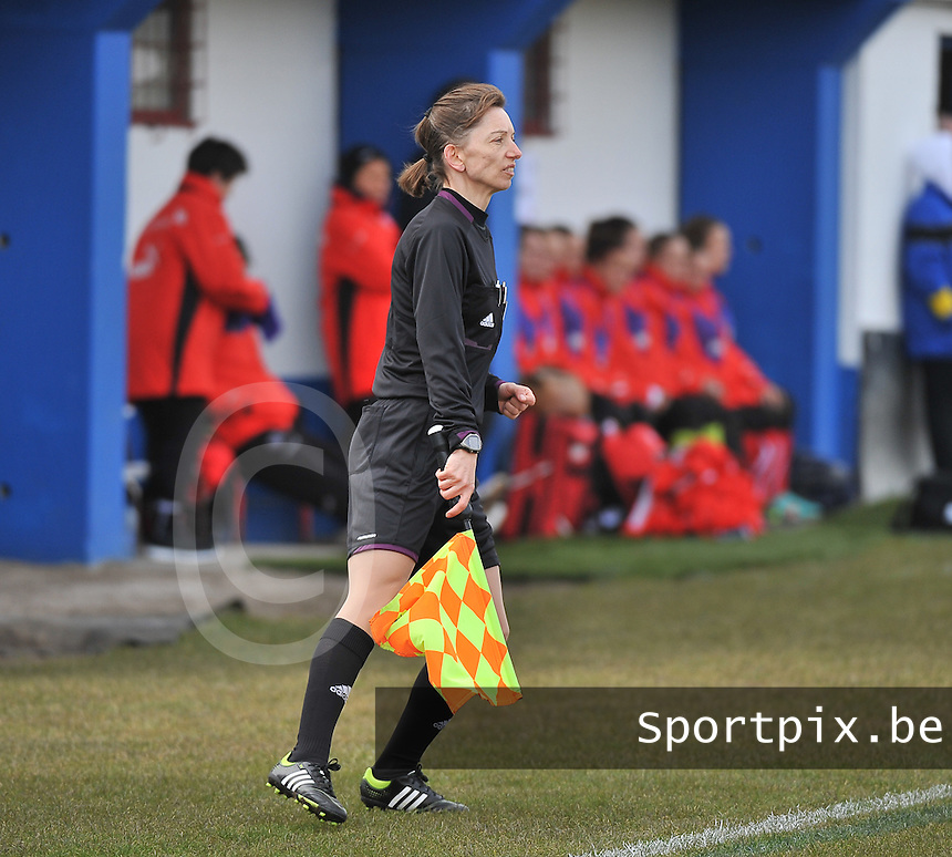 Switzerland U19 - Russia U19 : Brigitta Makkosne Petz (HUN).foto DAVID CATRY / Nikonpro.be