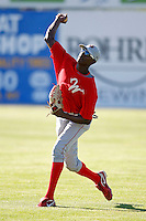 June 22, 2009:  Outfielder Jiwan James of the Williamsport Crosscutters during a game at Dwyer Stadium in Batavia, NY.  The Crosscutters are the NY-Penn League Short-Season Single-A affiliate of the Philadelphia Phillies.  Photo by:  Mike Janes/Four Seam Images