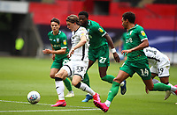 5th July 2020; Liberty Stadium, Swansea, Glamorgan, Wales; English Football League Championship, Swansea City versus Sheffield Wednesday; Conor Gallagher of Swansea City makes a run into the box, pressured by Sheffield Wednesday defenders
