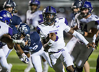 NWA Democrat-Gazette/BEN GOFF @NWABENGOFF<br /> Darius Bowers, Fayetteville quarterback, runs the ball in the first quarter vs Springdale Har-Ber Friday, Nov. 2, 2018, during the game at Wildcat Stadium in Springdale.
