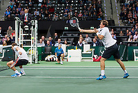 Rotterdam, The Netherlands. 15.02.2014. Mariusz Fyrstenberg(POL)/ Marcin Matkowski(POL) at the ABN AMRO World tennis Tournament<br /> Photo:Tennisimages/Henk Koster