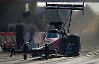 Jun. 30, 2012; Joliet, IL, USA: NHRA top fuel dragster driver Ike Maier during qualifying for the Route 66 Nationals at Route 66 Raceway. Mandatory Credit: Mark J. Rebilas-