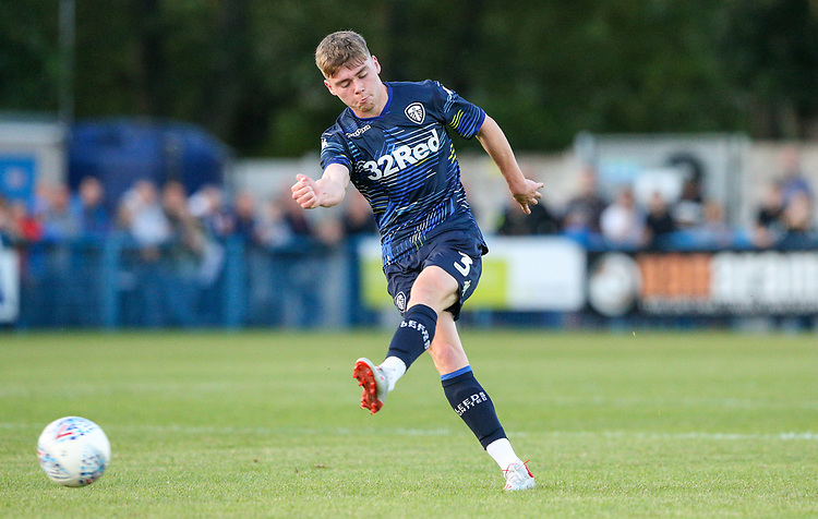 Leeds United's Leif Davis in action<br /> <br /> Photographer Alex Dodd/CameraSport<br /> <br /> Football Pre-Season Friendly - Guiseley v Leeds United - Thursday July 11th 2019 - Nethermoor Park - Guiseley<br /> <br /> World Copyright © 2019 CameraSport. All rights reserved. 43 Linden Ave. Countesthorpe. Leicester. England. LE8 5PG - Tel: +44 (0) 116 277 4147 - admin@camerasport.com - www.camerasport.com