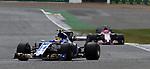 14.07.2017, Silverstone Circuit, Silverstone, FORMULA 1 BRITISH GRAND PRIX 2017, 13.07. - 16.07.2017<br /> , im Bild<br /> Pascal Wehrlein (GER#94), Sauber F1 Team, Esteban Ocon (FRA#31), Sahara Force India Formula One Team<br /> <br /> Foto &copy; nordphoto / Bratic