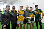 17-1-2017: Chris Flannery, Deividas Uosis, Tommy Griffin, Cathal Ferriter in the All-Ireland Football final at Croke Park on Sunday.<br /> Photo: Don MacMonagle