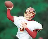 Washington Redskins back-up quarterback Jeff George (3) participates in passing drills during Redskin training camp at Redskin Park in Ashburn, Virginia on July 21, 2000.<br /> Credit: Arnie Sachs / CNP