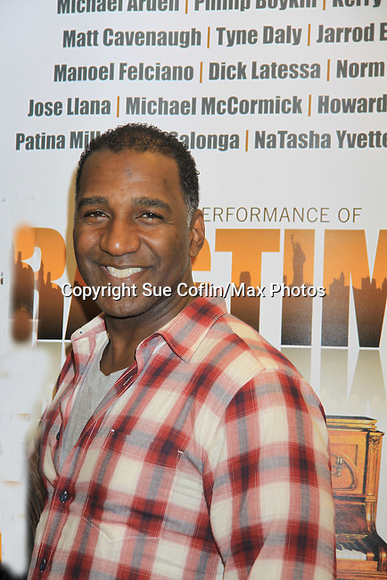 "Rehearsals for Ragtime starring All My Children Norm Lewis ""Keith McLean"" & now Scandal on February 11, 2013 for a concert at Avery Fisher Hall, New York City, New York on Monday February 18, 2013. (Photo by Sue Coflin/Max Photos)"