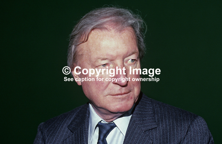 Charles J Haughey, Taoiseach, Prime Minister, Rep of Ireland, TD, Fianna Fail, Ard Fheis, 19880204CJH5.<br />