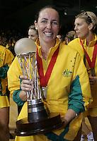 16.11.2007 Australian Liz Ellis celebrates after the Silver Ferns v Australia Final at the New World Netball World Champs held at Trusts Stadium Auckland New Zealand. Mandatory Photo Credit ©Michael Bradley. ***FREE FOR EDITORIAL USE***