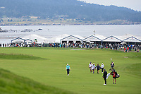 Emiliano Grillo (ARG), Ryan Fox (NZL), and Thorbjorn Olesen (DEN) make their way down 14 during round 1 of the 2019 US Open, Pebble Beach Golf Links, Monterrey, California, USA. 6/13/2019.<br /> Picture: Golffile | Ken Murray<br /> <br /> All photo usage must carry mandatory copyright credit (© Golffile | Ken Murray)