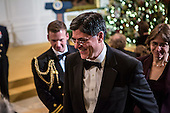 White House Chief of Staff Jack Lew arrives at the Kennedy Center Honors reception at the White House on December 2, 2012 in Washington, DC. The Kennedy Center Honors recognized seven individuals - Buddy Guy, Dustin Hoffman, David Letterman, Natalia Makarova, John Paul Jones, Jimmy Page, and Robert Plant - for their lifetime contributions to American culture through the performing arts. .Credit: Brendan Hoffman / Pool via CNP