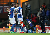 Blackburn Rovers' Danny Graham is replaced by Blackburn Rovers' Joe Nuttall in the second half <br /> <br /> Photographer Rachel Holborn/CameraSport<br /> <br /> The EFL Sky Bet League One - Blackburn Rovers v Shrewsbury Town - Saturday 13th January 2018 - Ewood Park - Blackburn<br /> <br /> World Copyright &copy; 2018 CameraSport. All rights reserved. 43 Linden Ave. Countesthorpe. Leicester. England. LE8 5PG - Tel: +44 (0) 116 277 4147 - admin@camerasport.com - www.camerasport.com