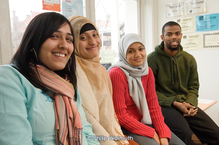 Muslim Youth Helpline: Rukaiya Jeraj (Site Editor), Faridah Karim (Project Co-ordinator), Shareefa Fulat (Director), Mohamed Ellis (Helpline Development Worker)