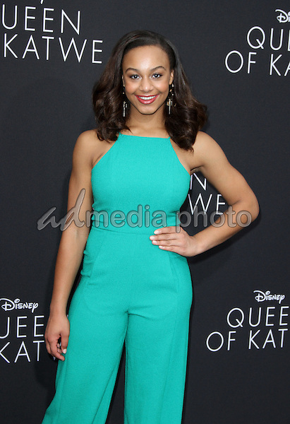 "20 September 2016 - Hollywood, California - Nia Sioux. ""Queen Of Katwe"" Los Angeles Premiere held at the El Capitan Theater in Hollywood. Photo Credit: AdMedia"